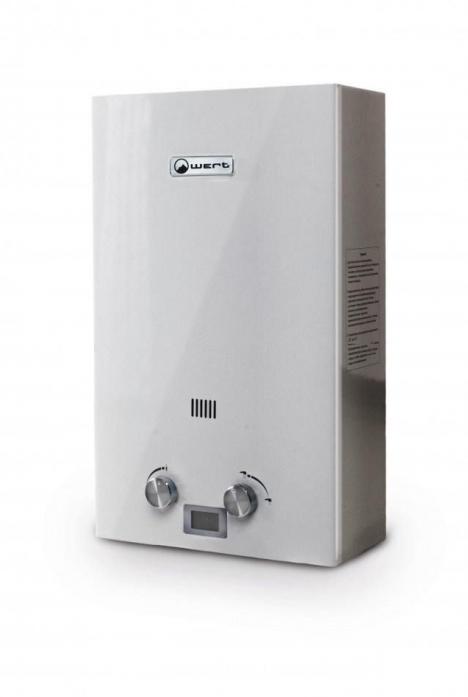 Газовый проточный водонагреватель WERT 12E silver