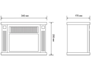 Мини-камин Electrolux EFP/M- 5012W