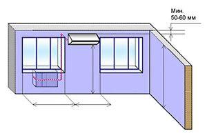 Схема № 3 монтаж настенной сплит-системы трасса до 3-х метров